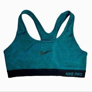Nike Pro Classic Dri-Fit Teal Racerback Athletic Sports Bra S